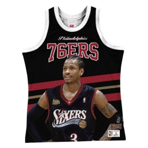 MITCHELL AND NESS Camiseta Behind The Back Tank Allen Iverson Black
