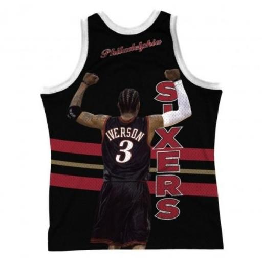 MITCHELL AND NESS Camiseta Behind The Back Tank Allen Iverson Black [1]