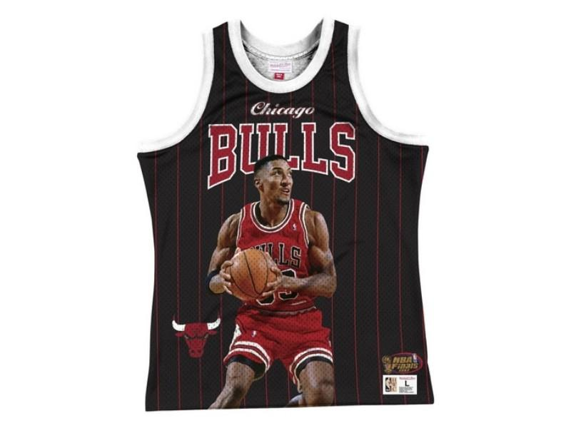 MITCHELL AND NESS Camiseta Behind The Back Tank Scottie Pippen Black