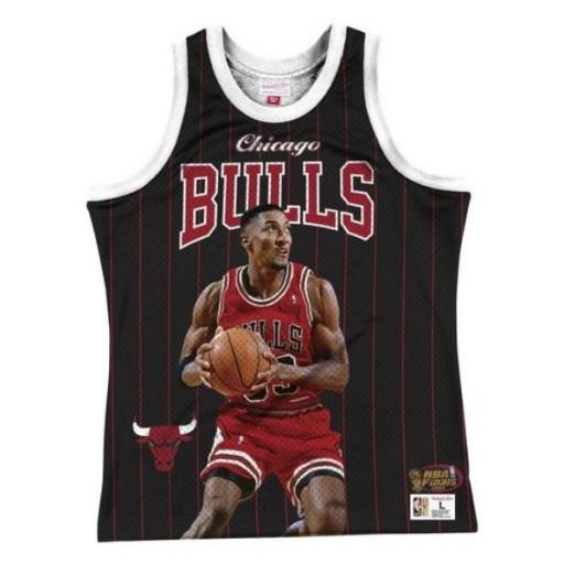 MITCHELL AND NESS Camiseta Behind The Back Tank Scottie Pippen Black [0]