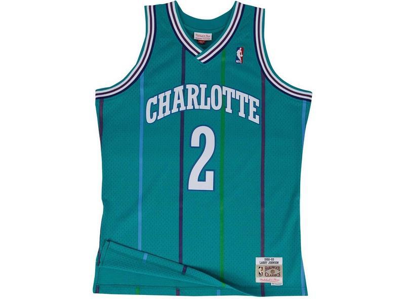 MITCHELL AND NESS Camiseta NBA Swingman Jersey Larry Johnson Charlotte Hornets Teal