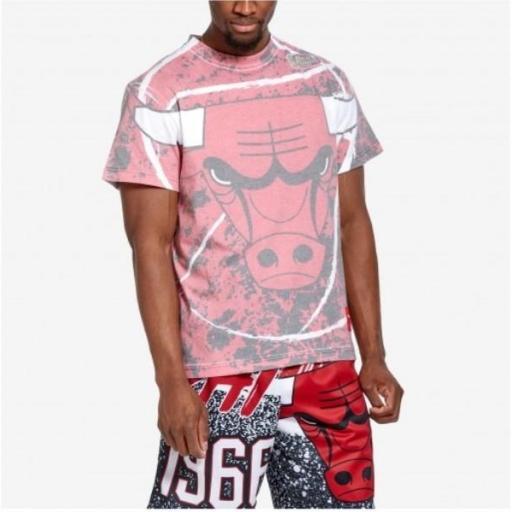 MITCHELL AND NESS Camiseta Sublimated Jumbotron Tee Chicago Bulls Scarlet