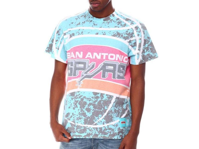 MITCHELL AND NESS Camiseta Sublimated Jumbotron Tee San Antonio Spurs Teal