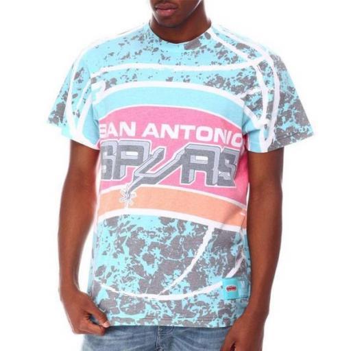 MITCHELL AND NESS Camiseta Sublimated Jumbotron Tee San Antonio Spurs Teal [0]