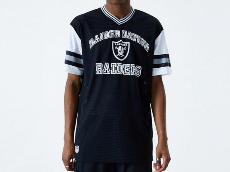 NEW ERA Camiseta Oakland Raiders Oversized Mesh Black