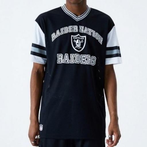 NEW ERA Camiseta Oakland Raiders Oversized Mesh Black [0]