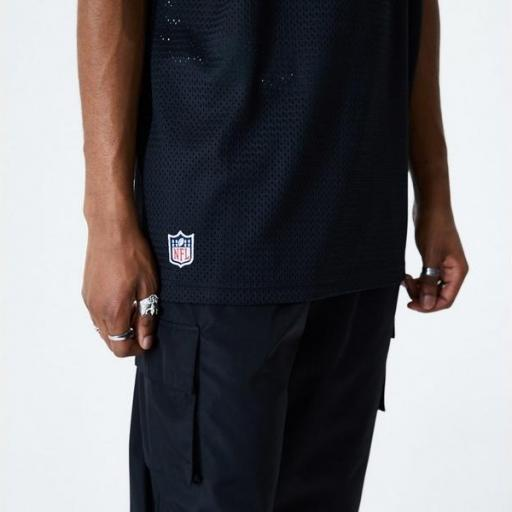 NEW ERA Camiseta Oakland Raiders Oversized Mesh Black [1]