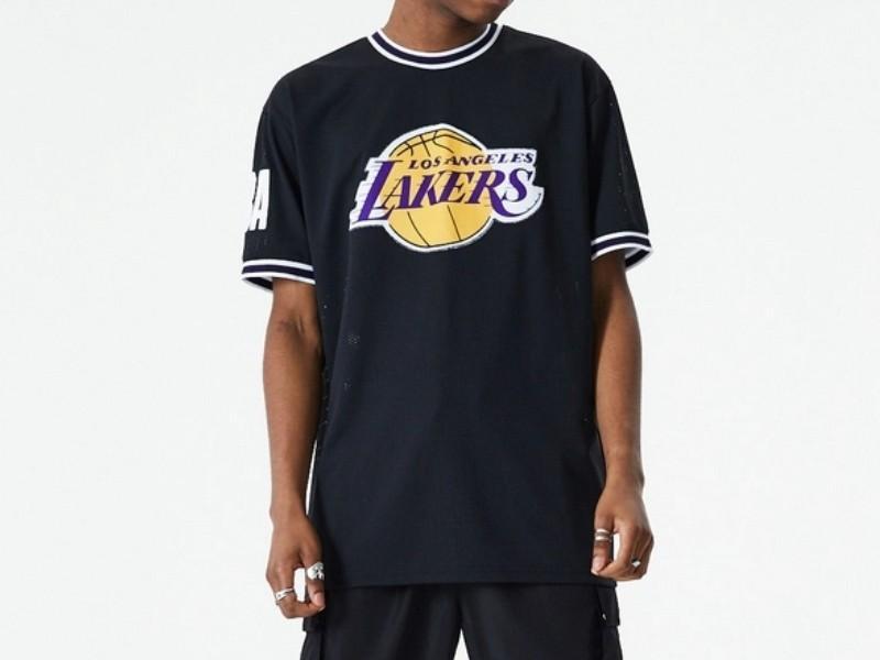NEW ERA Camiseta Los Ángeles Lakers NBA Oversized Applique Black