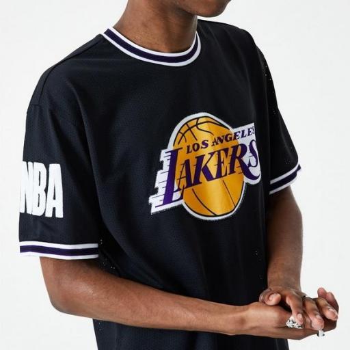 NEW ERA Camiseta Los Ángeles Lakers NBA Oversized Applique Black [2]