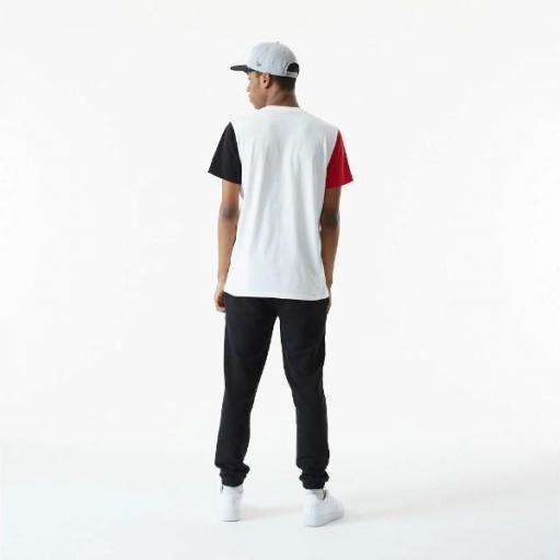 NEW ERA Camiseta NBA Color Block Sleeve Tee Chicago Bulls White [2]