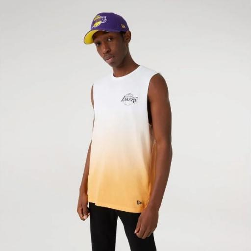 NEW ERA Camiseta NBA DIP DYE Sleeveless Tee Los Ángeles Lakers Gold