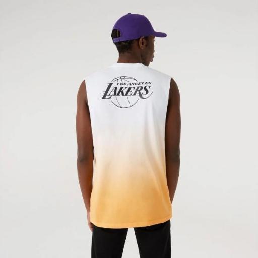NEW ERA Camiseta NBA DIP DYE Sleeveless Tee Los Ángeles Lakers Gold [2]