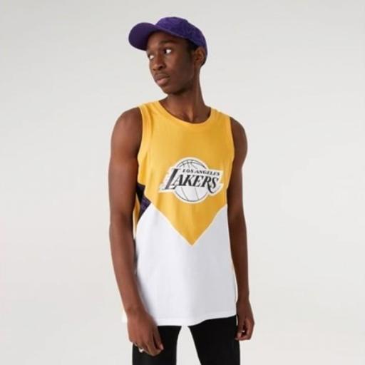 NEW ERA Camiseta NBA Oil Slick Tank Los Ángeles Lakers Yellow White