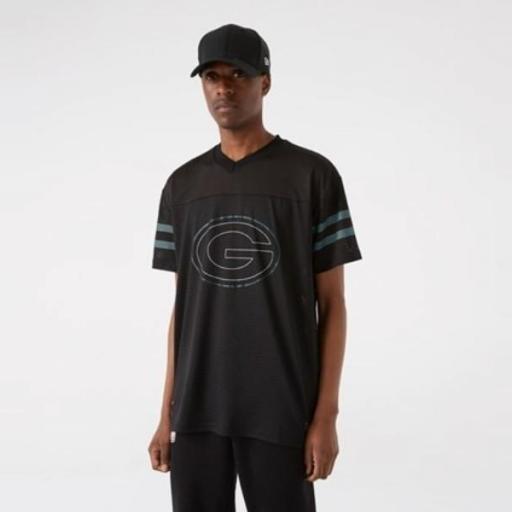 NEW ERA Camiseta NFL Outline Logo Oversized Tee Green Packers Black