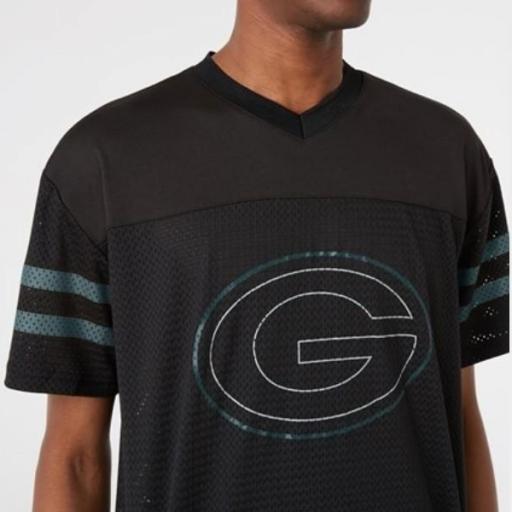 NEW ERA Camiseta NFL Outline Logo Oversized Tee Green Packers Black [1]