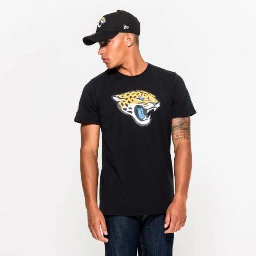 NEW ERA Camiseta NFL Team Logo Tee Jacksonville Jaguars Black