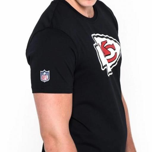 NEW ERA Camiseta NFL Team Logo Tee Kansas City Chiefs Black [3]