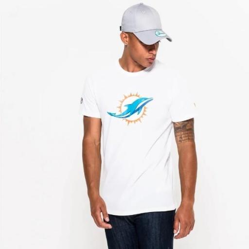NEW ERA Camiseta NFL Team Logo Tee Miami Dolphin White