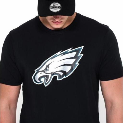 NEW ERA Camiseta NFL Team Logo Tee Philadelphia Eagles Black [2]