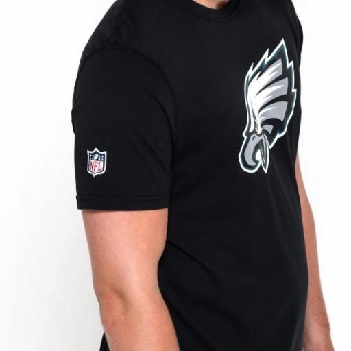NEW ERA Camiseta NFL Team Logo Tee Philadelphia Eagles Black [3]