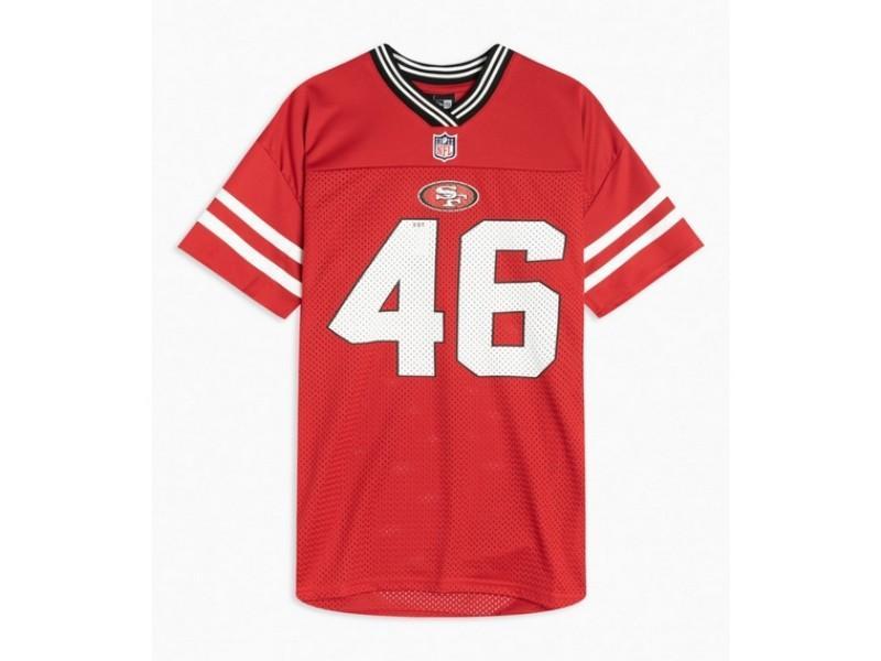 NEW ERA Camiseta NOS NFL Logo Oversized Tee San Franciso 49 Red