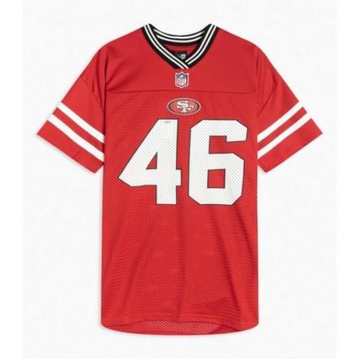 NEW ERA Camiseta NOS NFL Logo Oversized Tee San Franciso 49 Red [0]