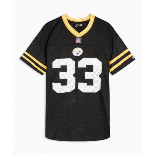 NEW ERA Camiseta New Era Log Oversized NFL Pittsburgh Steelers Black