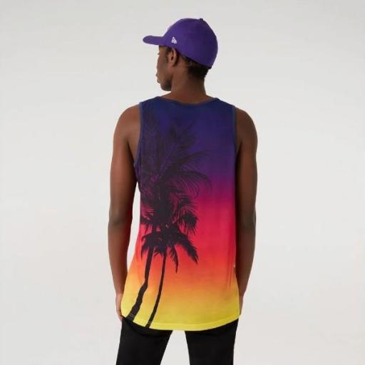 NEW ERA Camiseta NBA Summer City AOP Tank Los Ángeles Lakers Print [2]