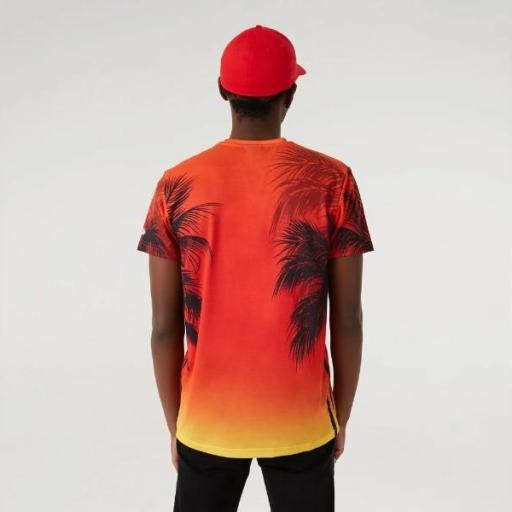 NEW ERA Camiseta NBA Summer City AOP Tee Chicago Bulls Red Print [2]