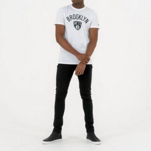 NEW ERA Camiseta NBA Team Logo Tee Brooklyn Nets White [1]