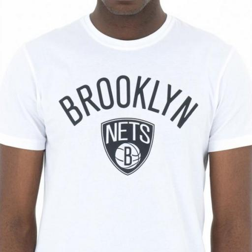 NEW ERA Camiseta NBA Team Logo Tee Brooklyn Nets White [2]