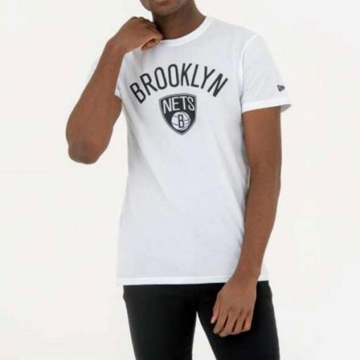 NEW ERA Camiseta NBA Team Logo Tee Brooklyn Nets White