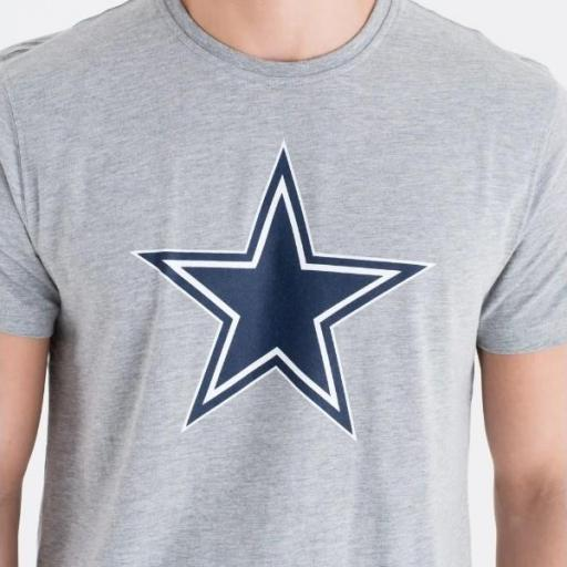 NEW ERA Camiseta NFL Team Logo Tee Dallas Cowboy Heather Grey [2]