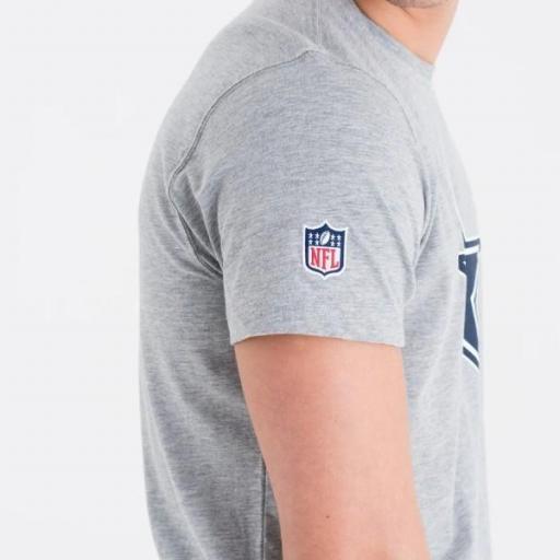NEW ERA Camiseta NFL Team Logo Tee Dallas Cowboy Heather Grey [3]