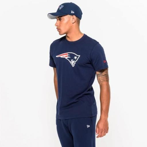 NEW ERA Camiseta NFL Team Logo Tee New England Patriots Navy