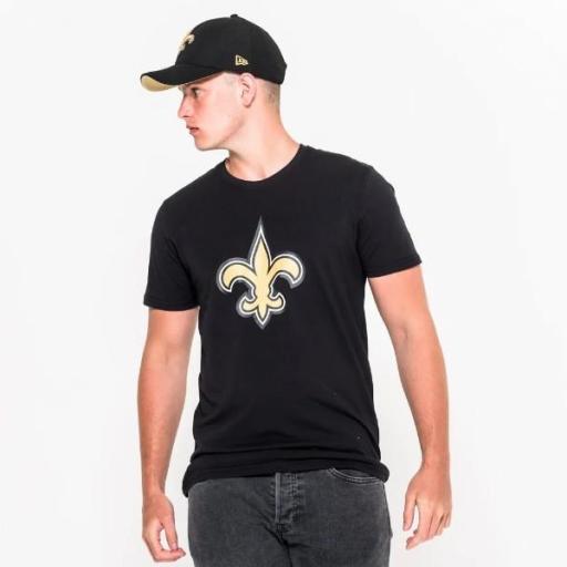 NEW ERA Camiseta NFL Team Logo Tee Nueva Orleans Saints Black [0]