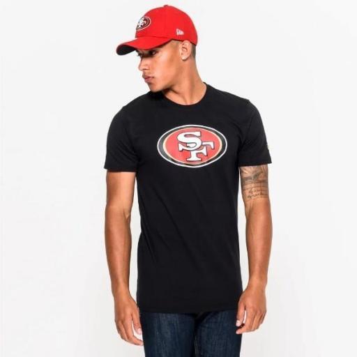 NEW ERA Camiseta NFL Team Logo Tee San Francisco 49ers Black