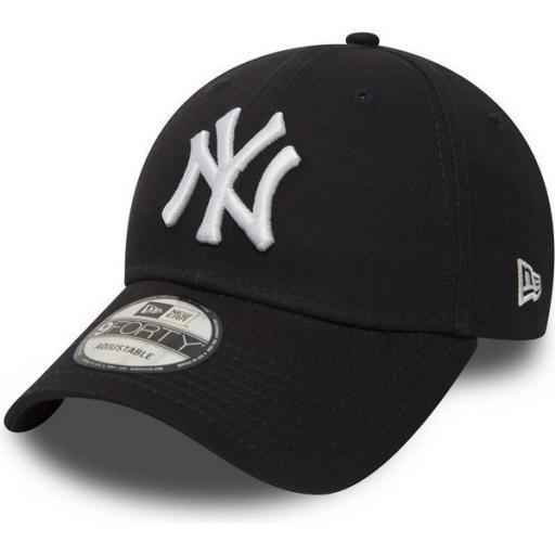 NEW ERA Gorra MLB New York Yankees Essential 9Forty Cap Black White