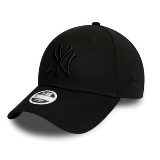 NEW ERA Gorra para chica MLB New York Yankees Essential 9Forty All Black