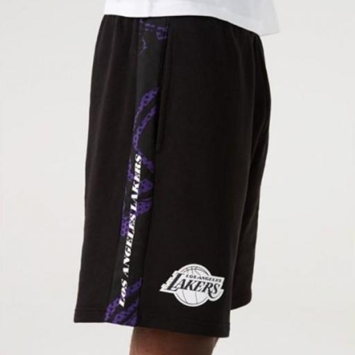 NEW ERA Pantalón corto NBA Print Panel Short Los Ángeles Lakers Black