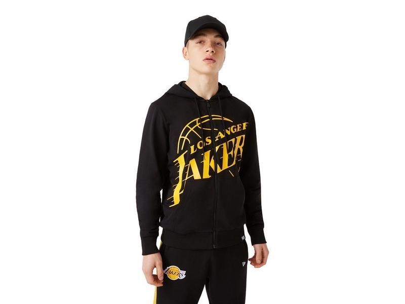 NEW ERA Sudadera NBA LA Lakers Logo Zip Up Hoodie Black