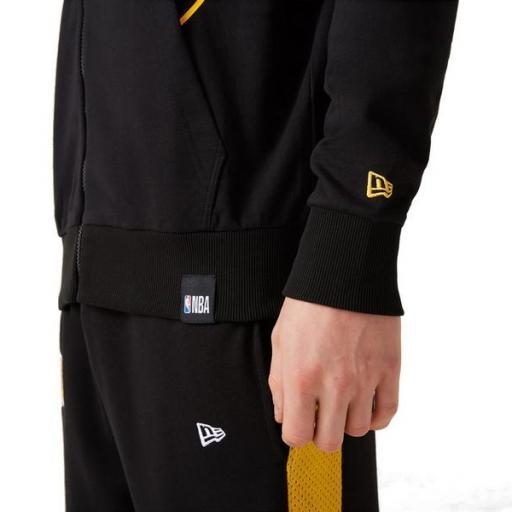 NEW ERA Sudadera NBA LA Lakers Logo Zip Up Hoodie Black [3]