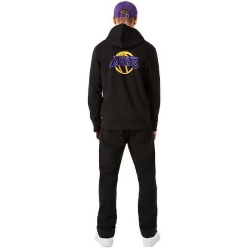 NEW ERA Sudadera NBA Neon PO Hoody Los Ángeles Lakers Black [1]