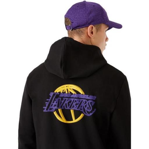 NEW ERA Sudadera NBA Neon PO Hoody Los Ángeles Lakers Black [3]