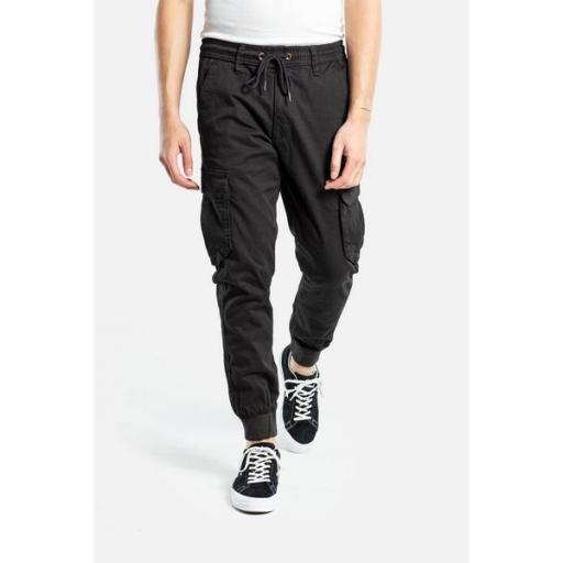 REELL Pantalón Reflex Rib Cargo Black [1]