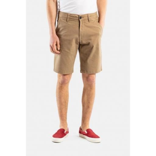 REELL Pantalones Flex Grip Chino Short Dark Sand [1]