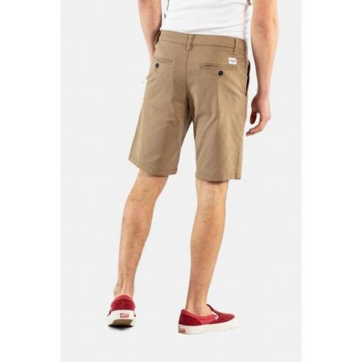 REELL Pantalones Flex Grip Chino Short Dark Sand