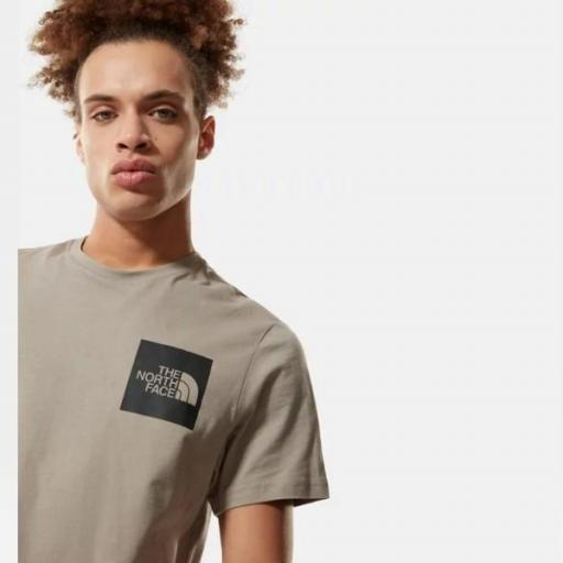 THE NORTH FACE Camiseta M S/S Fine Tee Mineral Grey [1]