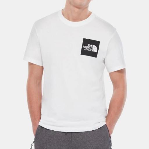 THE NORTH FACE Camiseta M S/S Fine Tee White TNF Black [1]