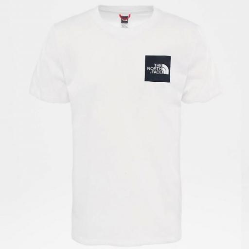 THE NORTH FACE Camiseta M S/S Fine Tee White TNF Black